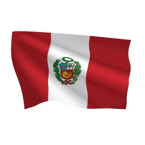 Peru with Seal Flag