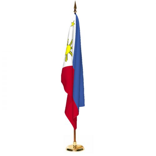 Indoor Philippines Ceremonial Flag Set