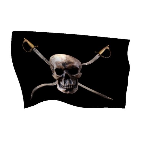 Nylon Pirate Flag