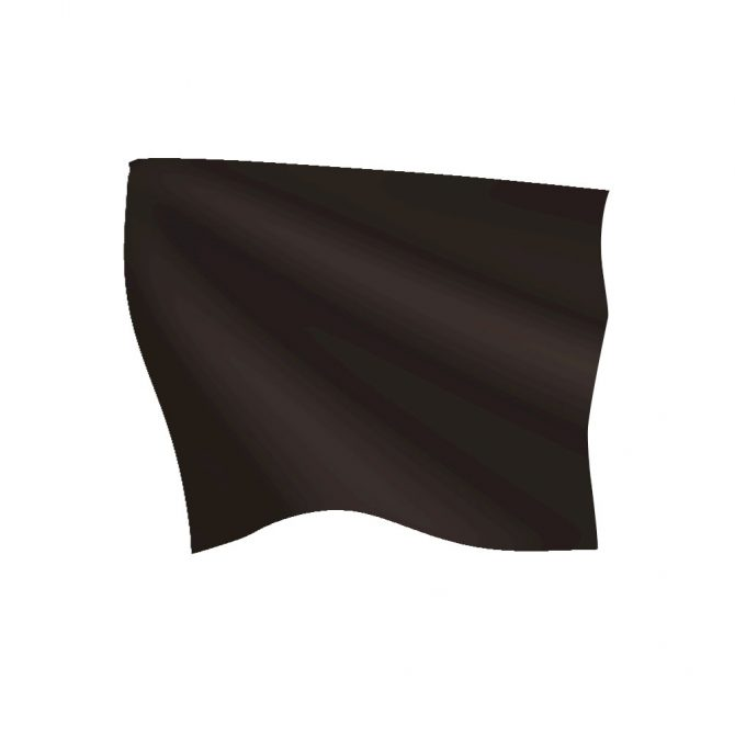 24in x 30in Black Pit Flag with Heading and Grommets
