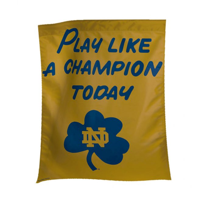 Notre Dame Play Like A Champion Banner