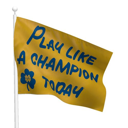 Notre Dame Play Like A Champion Flag