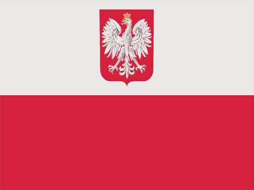 Poland with Seal Flag