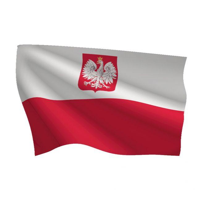 Poland with Seal Flag