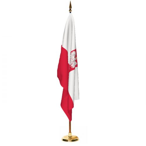 Indoor Poland with Seal Ceremonial Flag Set