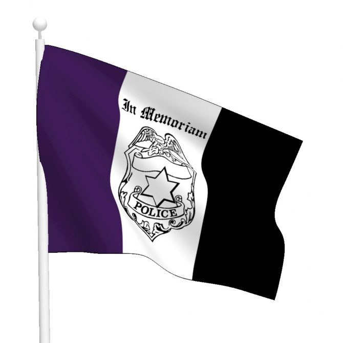 Policeman Mourning Flag