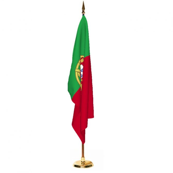 Indoor Portugal Ceremonial Flag Set