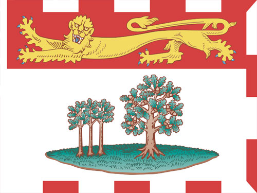 4in x 6in Prince Edward Island Flag with Staff and Spear