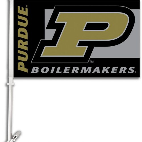 Purdue University Car Window Flag