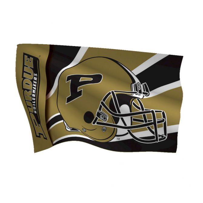 Purdue University Polyester Helmet Flag