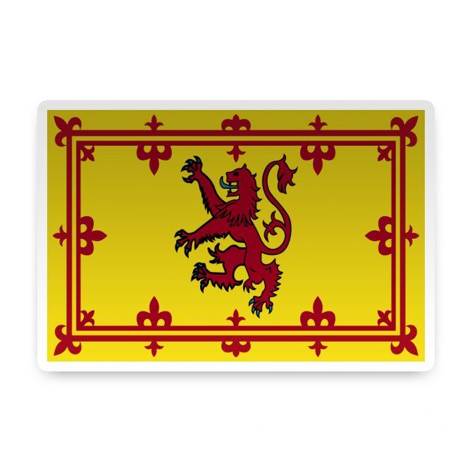 Scotland with Rampant Lion Sticker