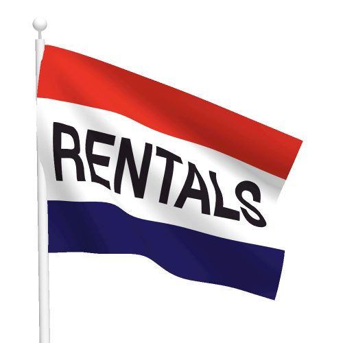 3ft x 5ft Rentals Message Flag