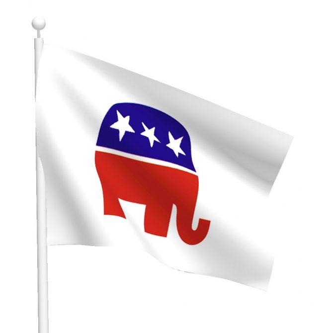 Republican Elephant Flag