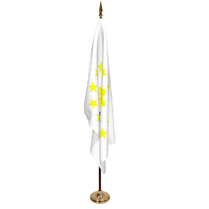Indoor Rhode Island Ceremonial Flag Set
