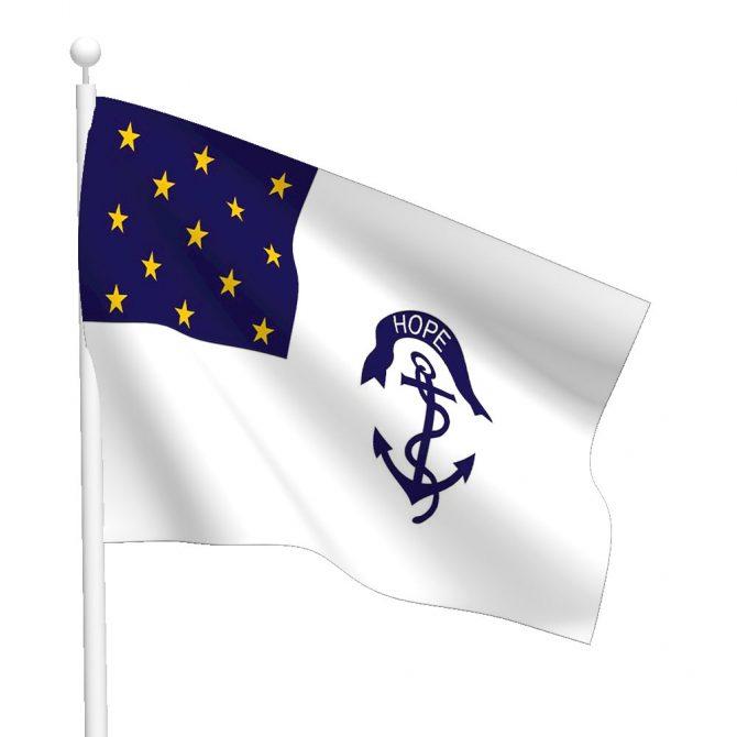 3ft x 5ft Rhode Island Regiment Flag