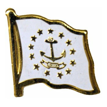 Rhode Island Flag Lapel Pin