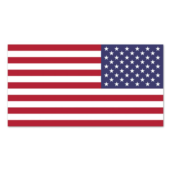 2-1/2in x 4in American Flag Right Hand Magnet
