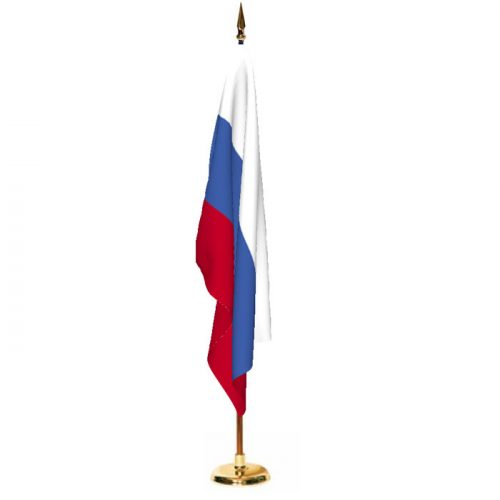 Indoor Russia Ceremonial Flag Set