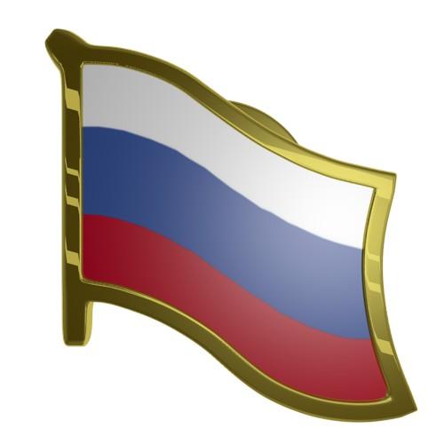 Russia Flag Lapel Pin