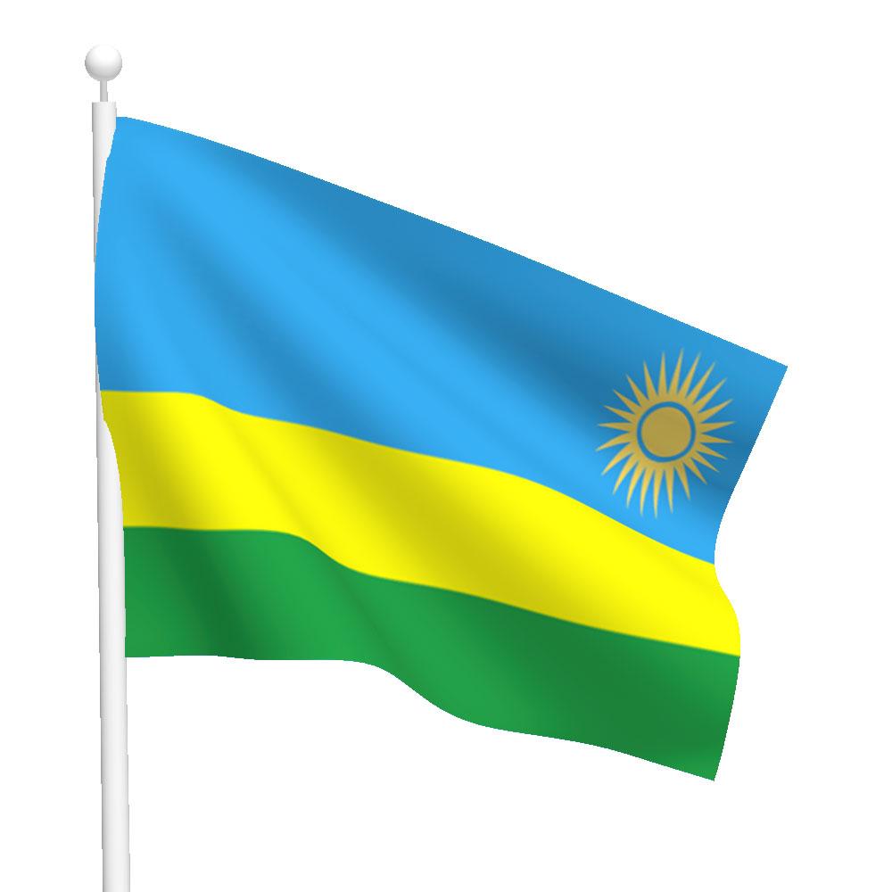 Polyester Rwanda Flag Light Duty Flags International - Rwanda flag