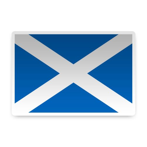 Scotland with St Andrews Cross Sticker