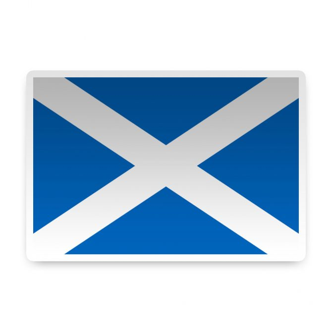 Scotland with St Andrews Cross Sticker