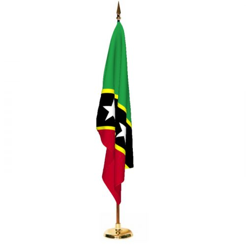 Indoor Saint Kitts and Nevis Ceremonial Flag Set