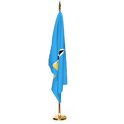 Indoor Saint Lucia Ceremonial Flag Set