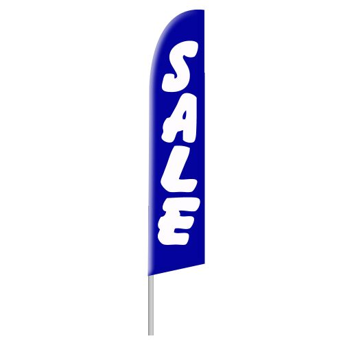 Blue Sale Tall Flag
