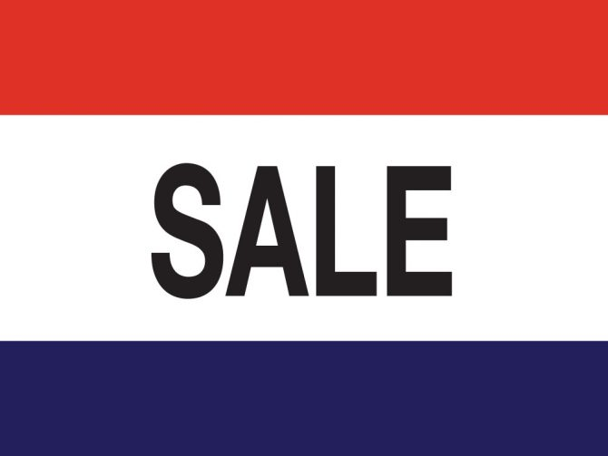 3ft x 5ft Sale Message Flag