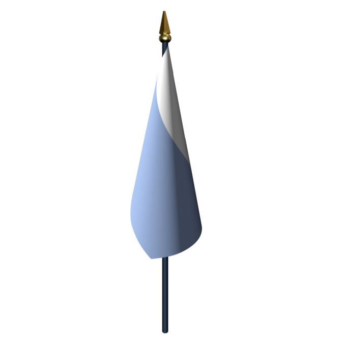 4in x 6in San Marino Flag with Staff and Spear