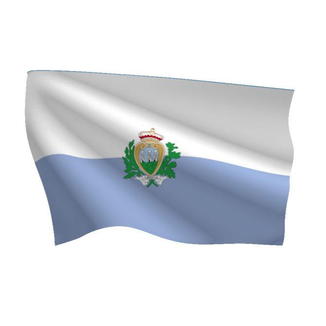 San Marino with Seal Flag