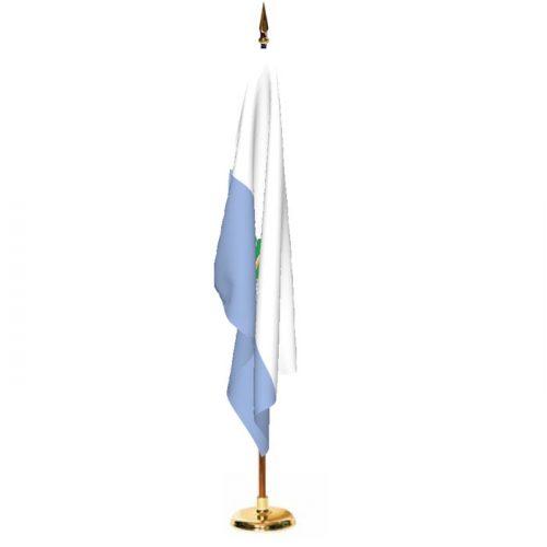 Indoor San Marino with Seal Ceremonial Flag Set