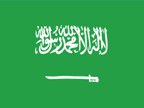 4in x 6in Saudi Arabia Flag with Staff and Spear