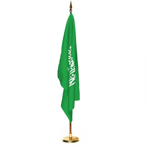 Indoor Saudi Arabia Ceremonial Flag Set