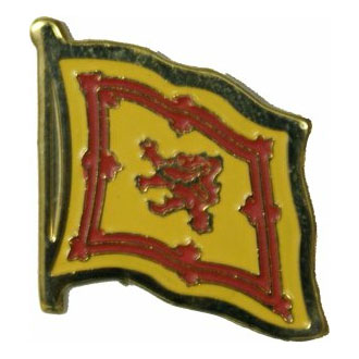 Scotland Rampant Lion Flag Lapel Pin