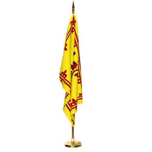 Indoor Scotland Rampant Lion Ceremonial Flag Set