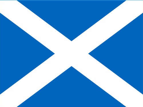 8in x 12in Scotland Saint Andrews Cross Flag with Staff and Spear