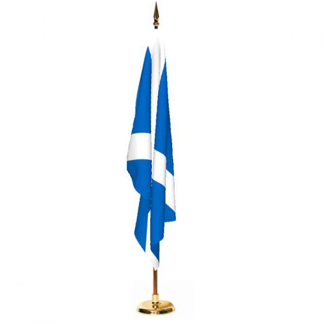 Indoor Scotland Saint Andrews Cross Ceremonial Flag Set