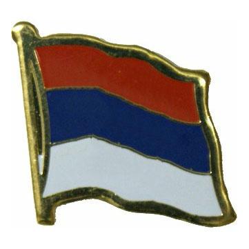 Serbia Flag Lapel Pin