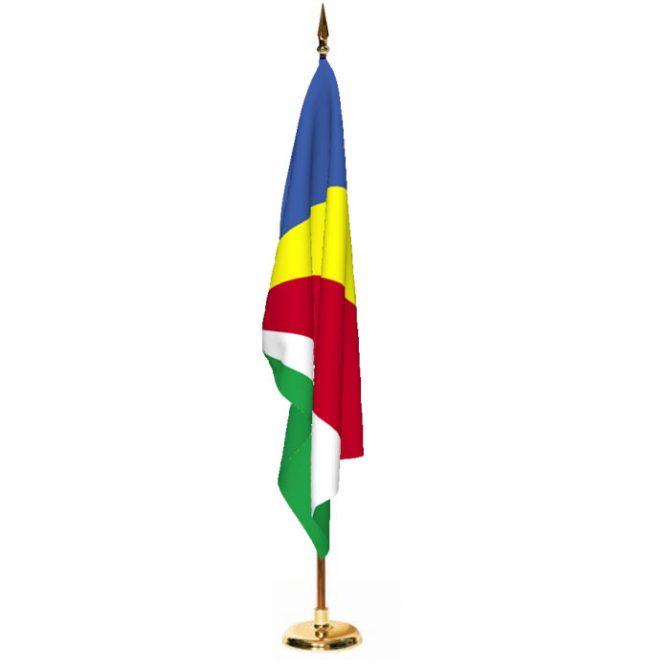 Indoor Seychelles Ceremonial Flag Set