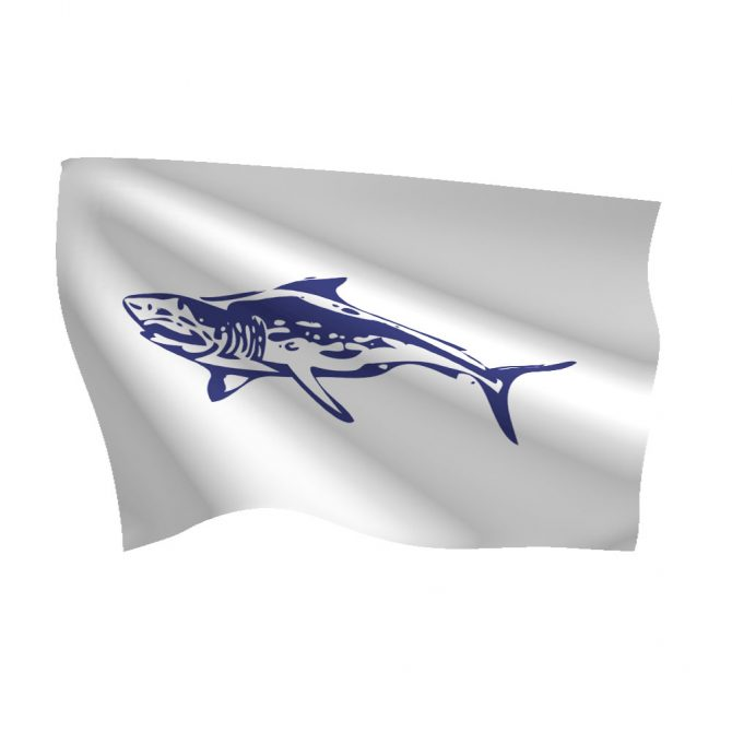 12in x 18in Mako Shark Flag