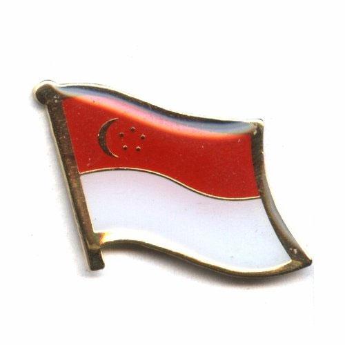 Singapore Flag Lapel Pin