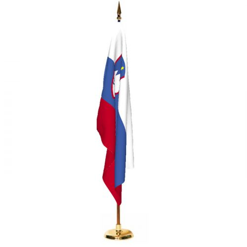 Indoor Slovenia Ceremonial Flag Set