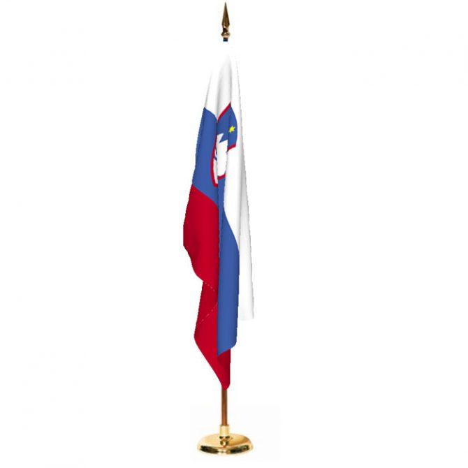 Indoor Slovenia Ceremonial Flag Set
