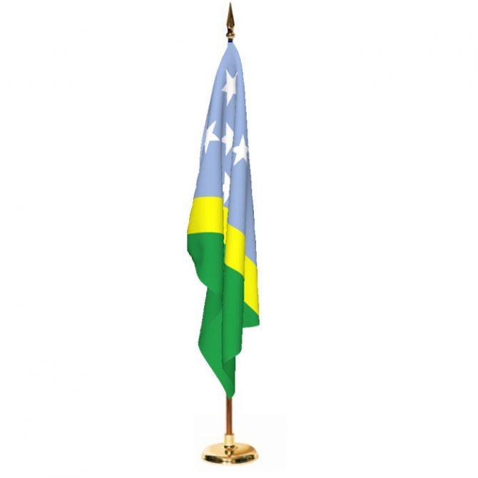 Indoor Solomon Islands Ceremonial Flag Set