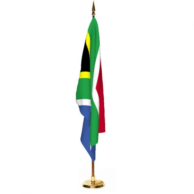 Indoor South Africa Ceremonial Flag Set