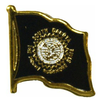 South Dakota Flag Lapel Pin