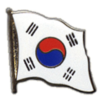 South Korea Flag Lapel Pin
