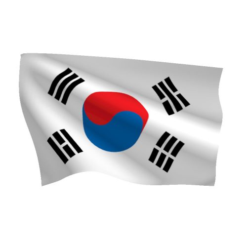 Polyester south korea flag light duty flags international - Picture of a korean flag ...